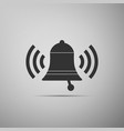 ringing bell icon isolated on grey background vector image vector image