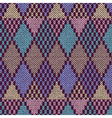 Samples of knitted Fabrics vector image vector image
