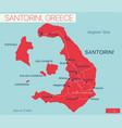 santorini island detailed editable map vector image vector image