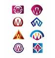 Set of letter W logo Branding Identity Corporate v vector image vector image