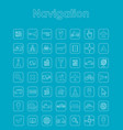 set of navigation simple icons vector image