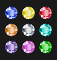 set round jewels different colors gemstones vector image