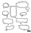 set talk clouds vector image vector image