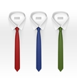 set tied striped colored silk and bow ties vector image