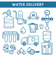 shipping and transportation water delivery vector image vector image