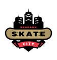 skateboarding park logo emblem vector image