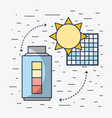 solar energy with electric battery loaded vector image vector image