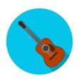 Spanish acoustic guitar icon in flat style vector image
