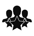 star customer retention icon simple style vector image vector image