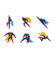 superheroes set superman character men with super vector image vector image