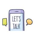 talk phone chat concept talk application logo vector image
