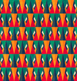 vintage bright triangle seamless pattern vector image