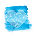watercolor and geometry heart vector image vector image