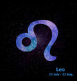 watercolor sign of the zodiac leo on star space vector image vector image