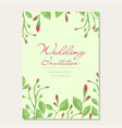 wedding invitation template card vector image vector image