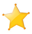 yellow star badge on white background vector image