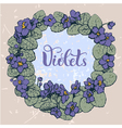 Violet round pattern vector image