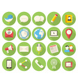 Media and communication icons vector image