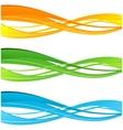 Set of color curve lines design element vector image