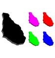 3d map of montserrat vector image vector image