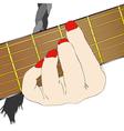 A Woman Musician vector image vector image