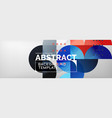 abstract background geometric composition vector image vector image