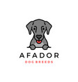 afador dog breed logo icon vector image vector image
