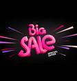 big sale special offer lettering banner vector image