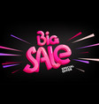 big sale special offer lettering banner vector image vector image