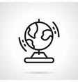 Black simple line globe icon vector image vector image