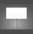 blank urban advertising banner mockup isolated on vector image vector image