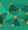 blockchain style on green background vector image