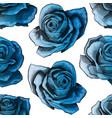 blue roses vintage seamless pattern blue rose vector image vector image