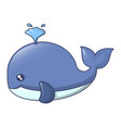 Blue whale icon cartoon style