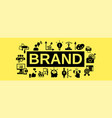brand team work concept banner simple style vector image vector image