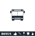 Bus icon flat vector image