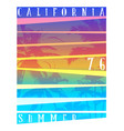 california typography graphics t-shirt printing vector image vector image