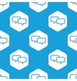 Chat hexagon pattern vector image vector image