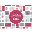 christmas sale christmas present background vector image vector image