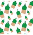 christmas tag price hang sale celebration pattern vector image