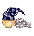 coffee universe vector image vector image