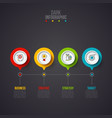 creative concept for dark infographic business vector image vector image