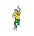 Cricket Fast Bowler Bowling Ball Front Isolated vector image vector image