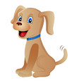 cute cartoon dog isolated on a white background vector image vector image