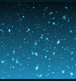 falling winter christmas realistic snow on vector image vector image