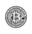 finance bitcoin background vector image
