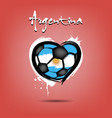 flag of argentina in the form of a heart vector image vector image