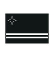 flag of aruba on white background vector image