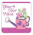 floral garden card vector image vector image