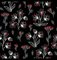 floral pattern with leaves and flowers ornamental vector image vector image